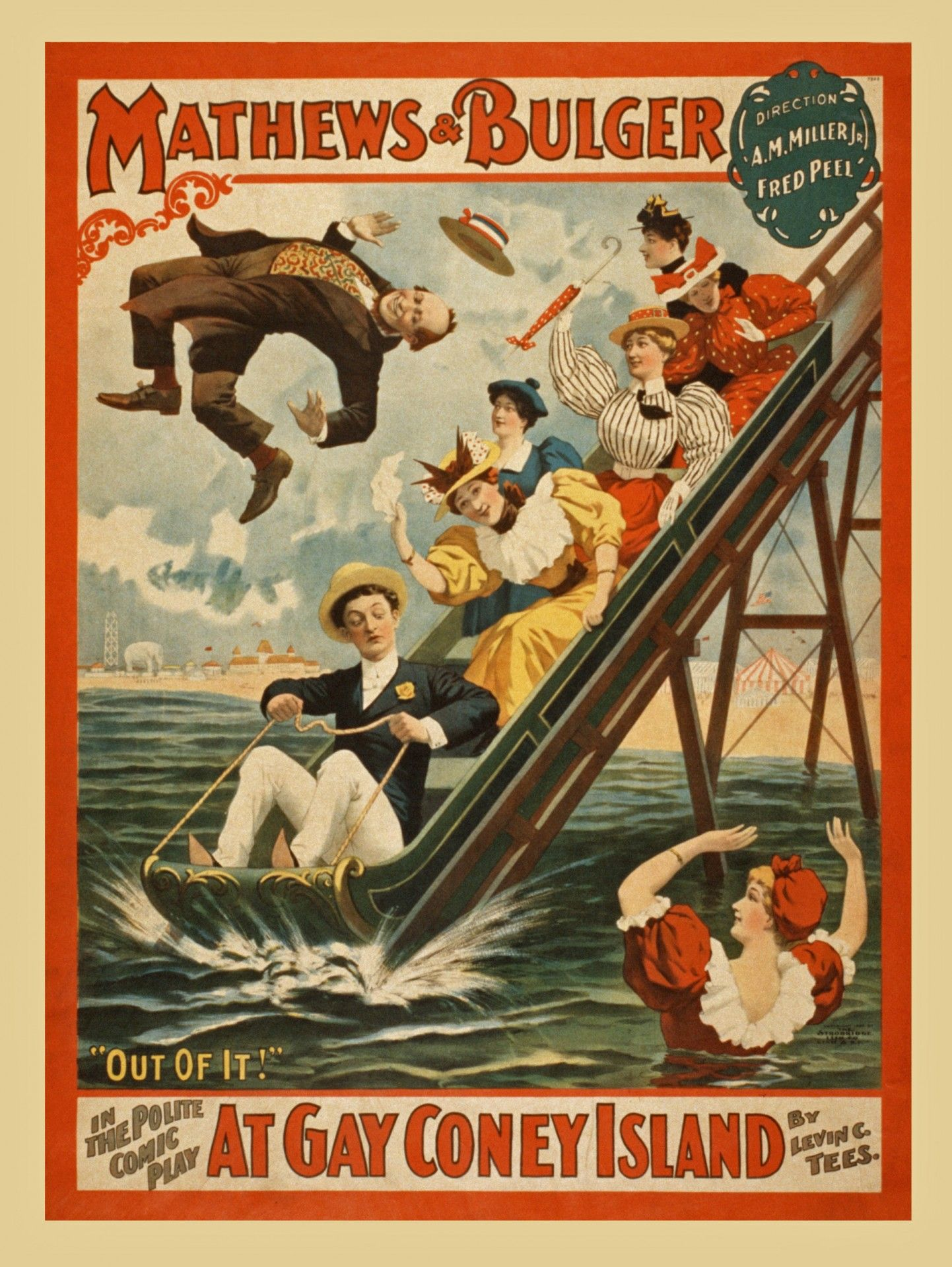 Poster Vintage Vintage Coney Island Poster Free Stock