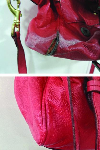Handbag Corners Can Wear Away Badly Like This Mulberry Alexa S The Technicians At Spa Skillfully Repair Area Thehandbagspa