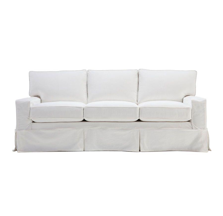 Quatrine Custom Furniture Capri Slipcovered Sofa Rolledarm