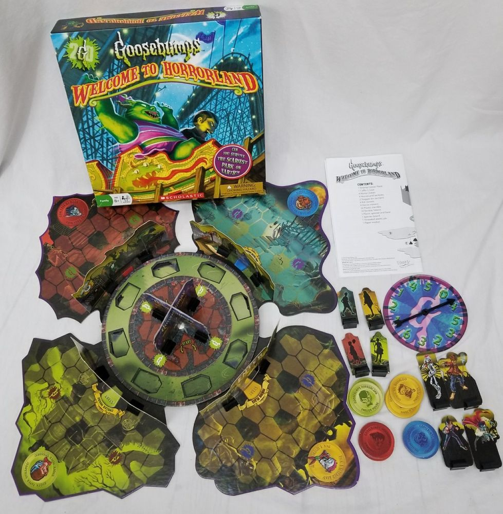 Scholastic Goosebumps To Horrorland Board Game 100