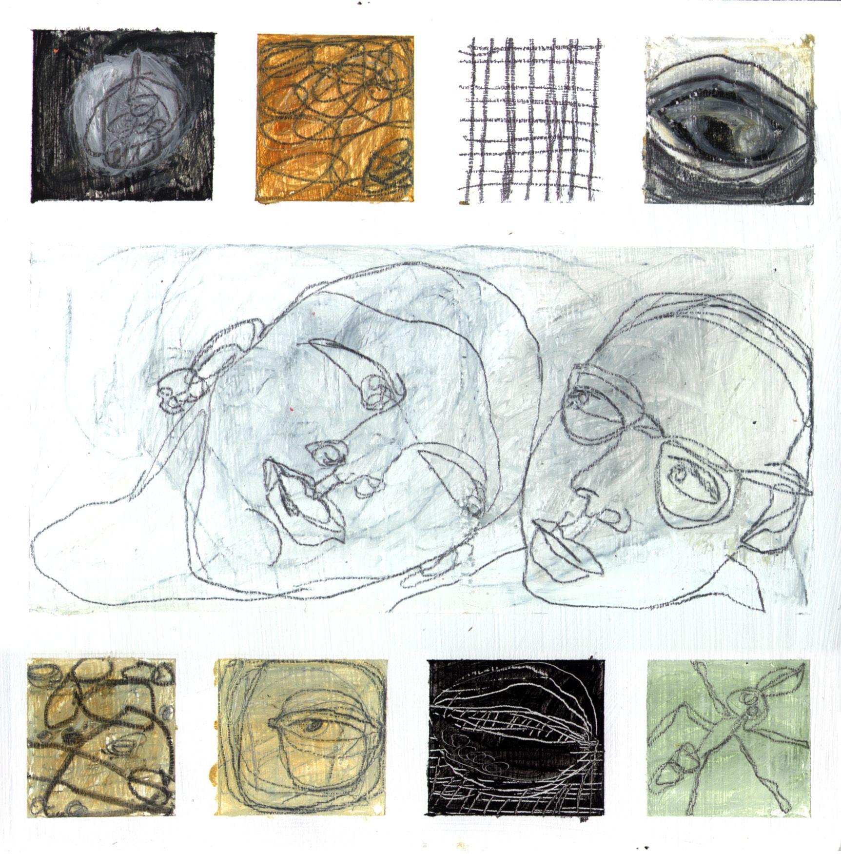 Deborah Putnoi Mixed Media On Wood Drawings Illustration Art