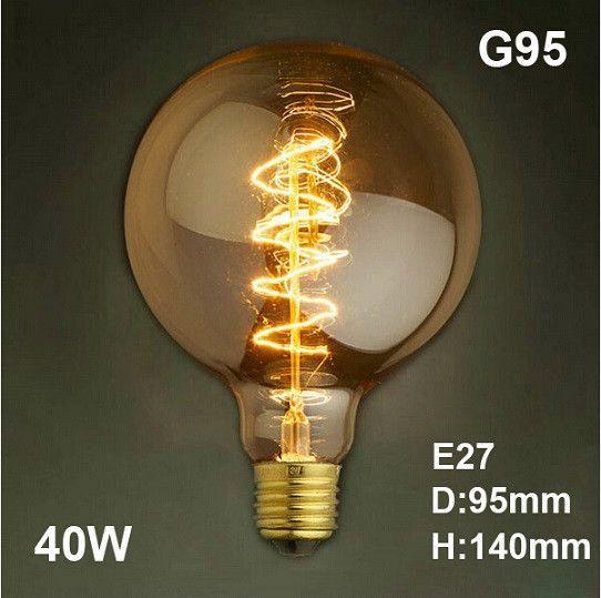 E27 40w Vintage Retro Filament Edison Tungsten Light Bulb: LED Antique Retro Vintage Edison Light Bulb E27 40W 220V