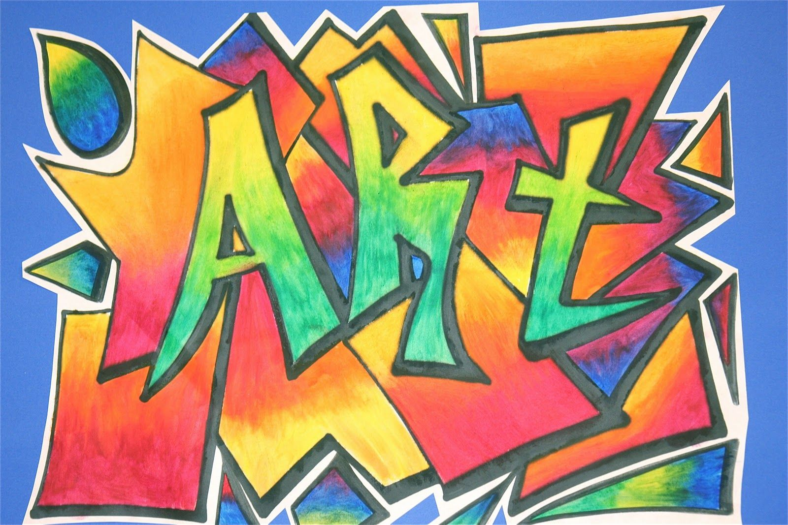 This Was A Really Fun Lesson To Do With My Older Students It Started Out As A 5th Grade Art Club Project But Elementary Art Street Art Graffiti Art Lessons