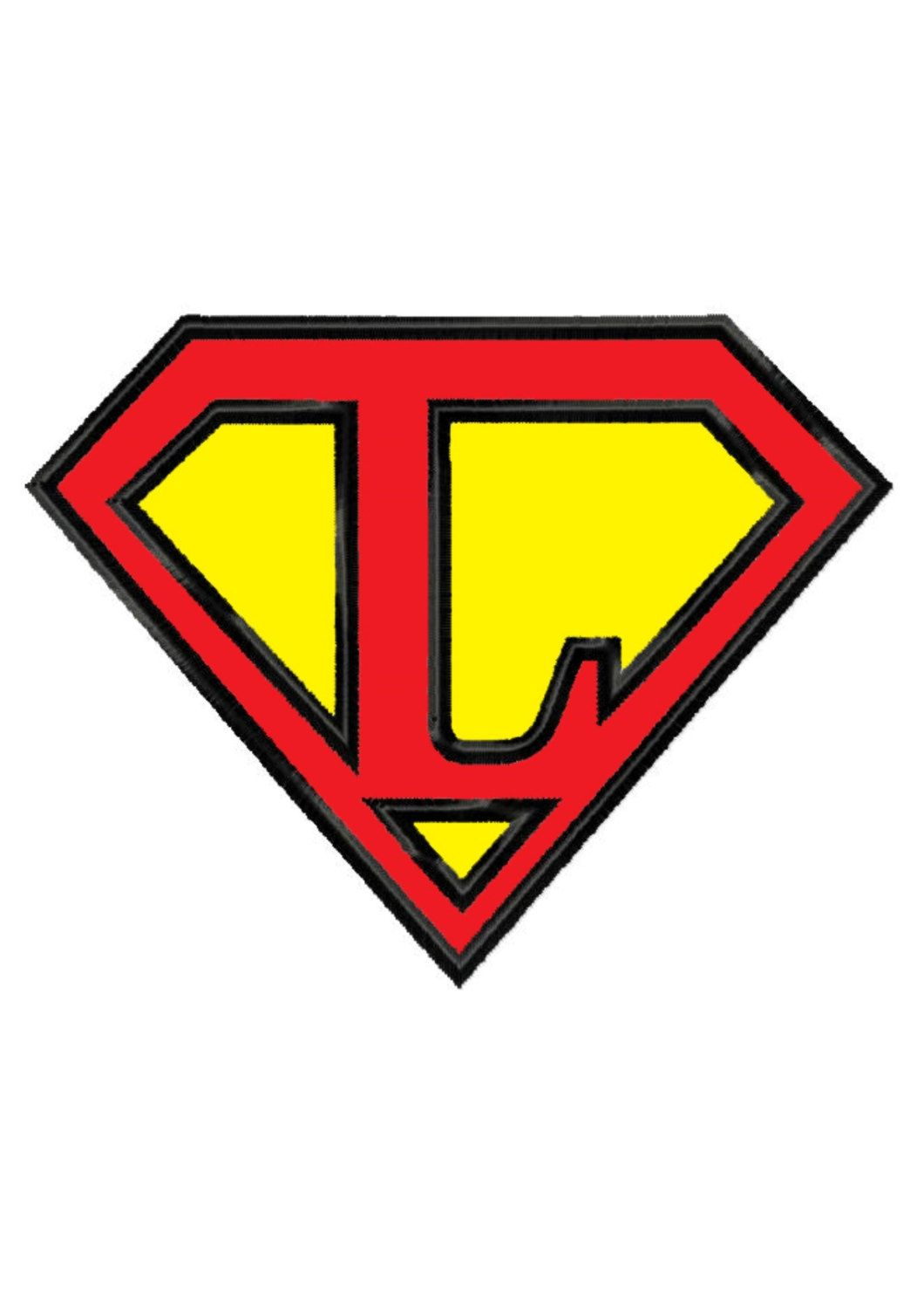 Superman Letter L applique Machine | Machine embroidery ...