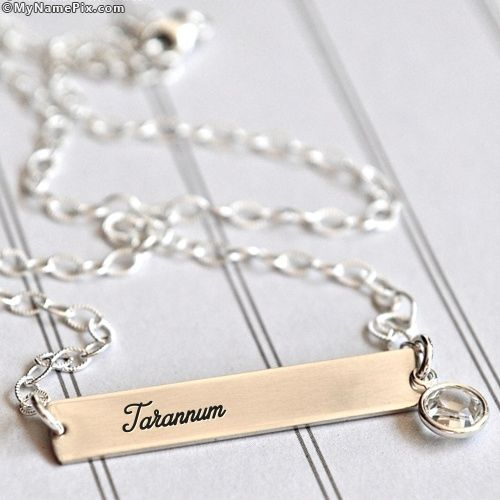 Surprise Image For Personalized Plain Necklace With Name Tarannum