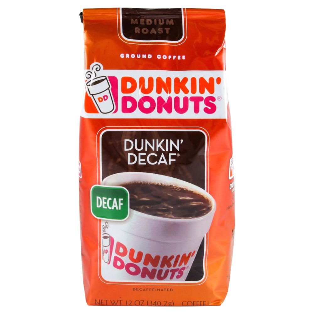 Dunkin' Donuts Decaffinated Original Blend, 12 oz. Ground