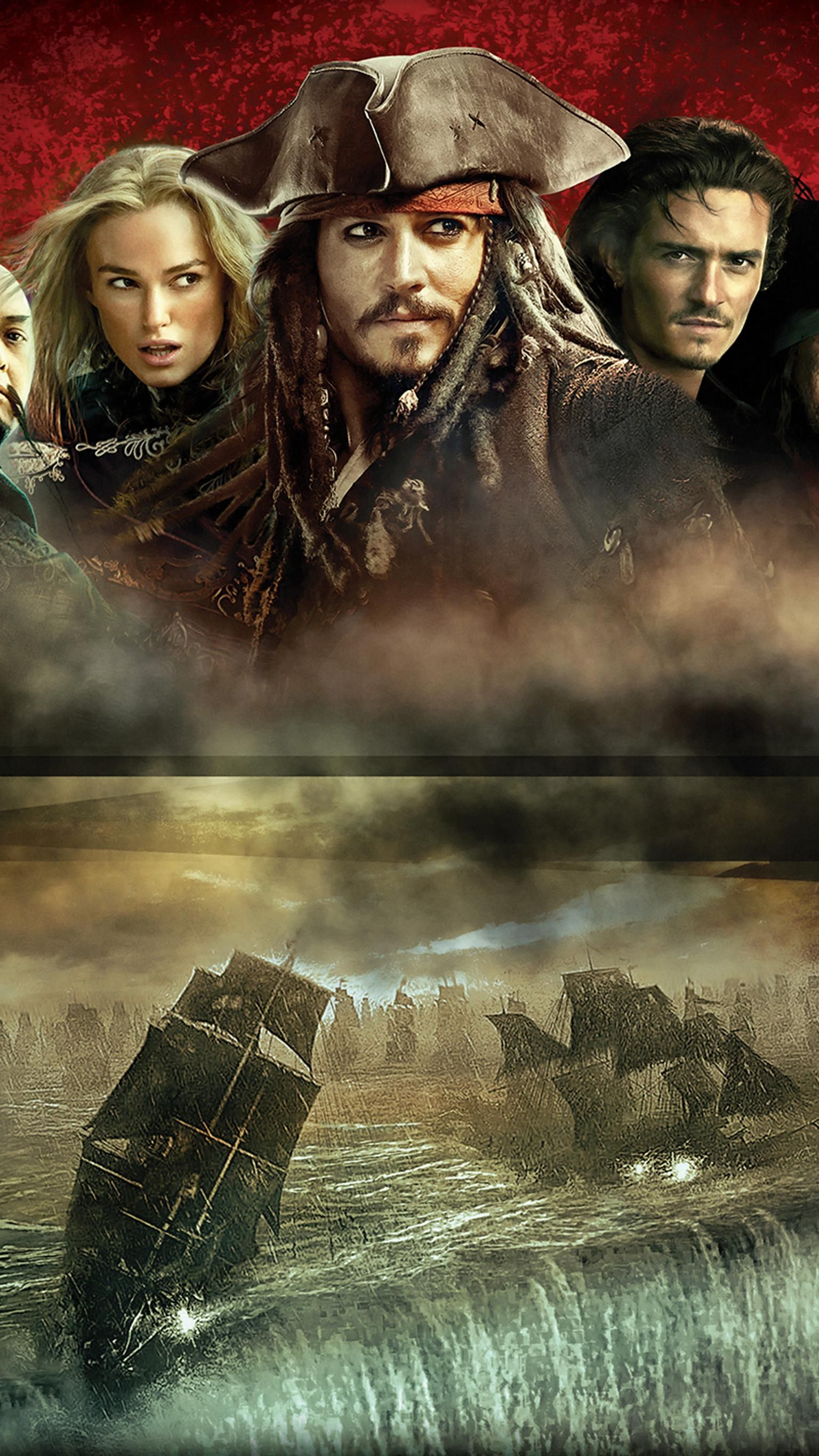 Pirates Of The Caribbean At World S End 2007 Phone Wallpaper Moviemania Pirates Of The Caribbean Pirates Caribbean
