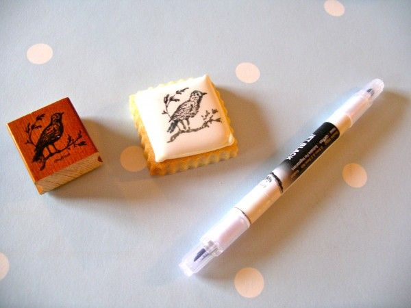 Love this - how to use food coloring to rubber stamp or paint with ...