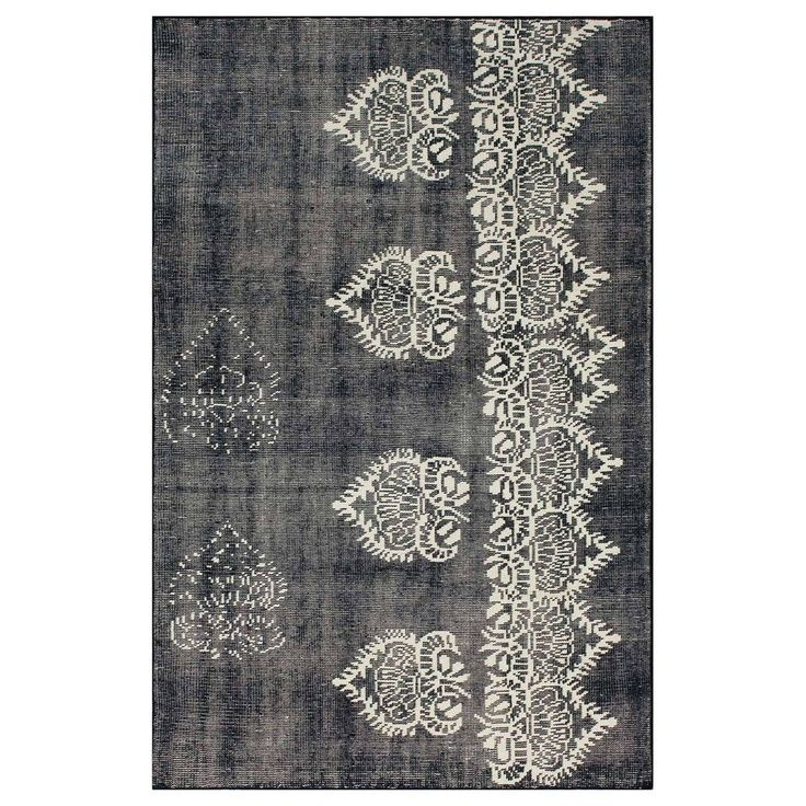 Espallier 8x10 Navy Embroidery Rugs Area Rugs Home Decor