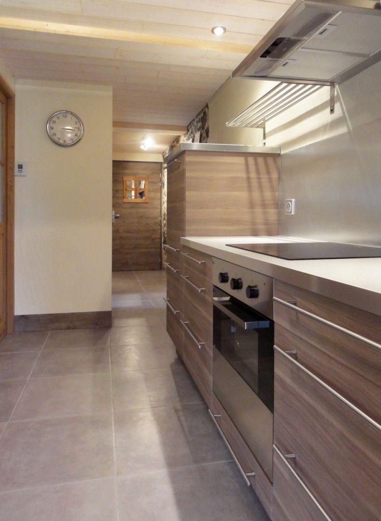 Modern Wood Kitchen Cuisine Cuisine Ikea Meuble Micro