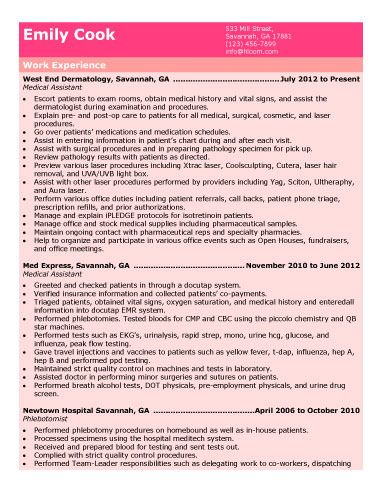 Chronological-Medical-Assistant-Resume Work Work Work - medical assistant objective