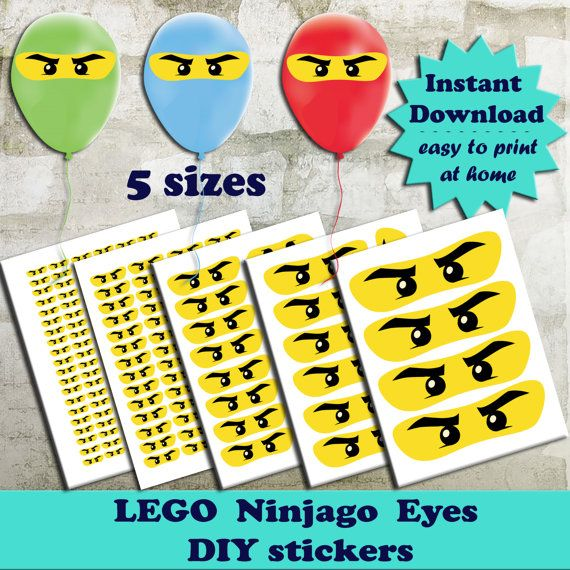 Ninjago Ogen Diy Stickers Lego Ninjago Ogen Voor Ballonnen