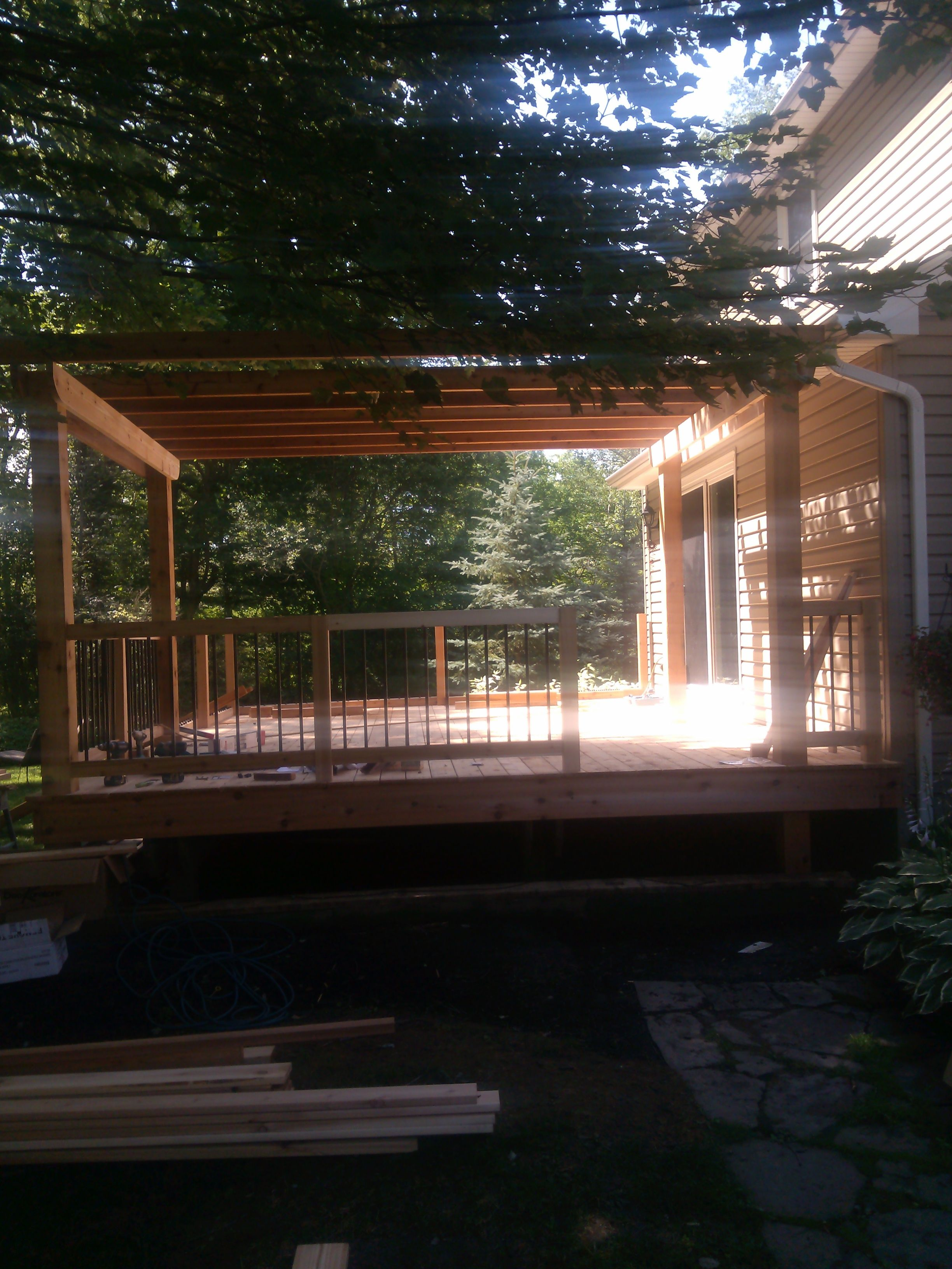 deck by Lyndhurst Lumber Deck design, Outdoor structures
