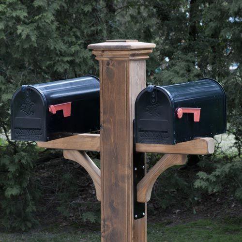 double cedar mailbox post