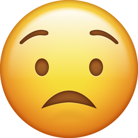 Worried Emoji Free Download Ios Emojis Emoji Wow Emoji Apple Emojis