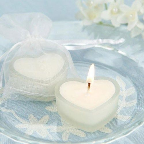 Small Heart Shaped Candles Party Favor