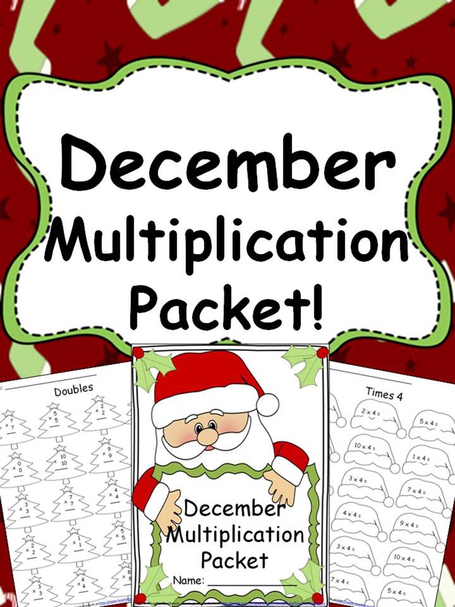 December Multiplication Packet Just Print Amp Go