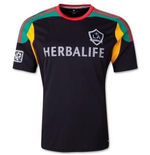 reputable site 34968 408c0 LA GALAXY 2013-2014 season AWAY BLACK JERSEY [PF1402251501 ...