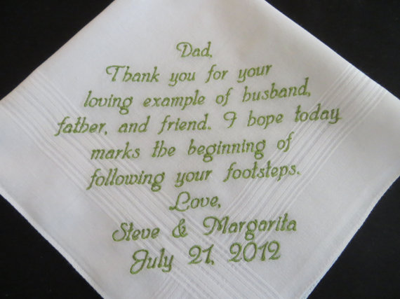 Father In Law Wedding Gifts: Father~In~Law Wedding Handkerchief