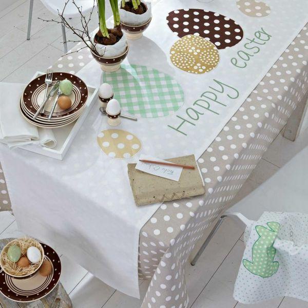 tischl ufer ostern festliche tischdeko ostern tischdecke. Black Bedroom Furniture Sets. Home Design Ideas