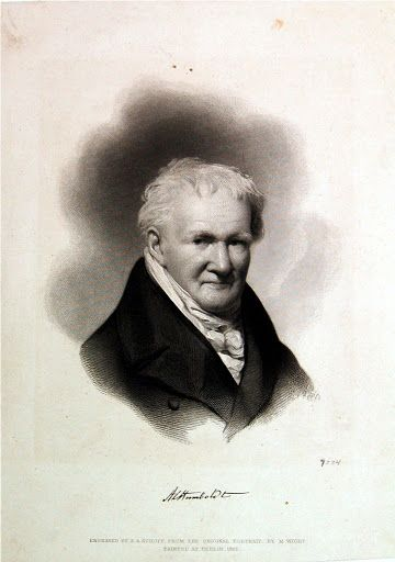 """""""Alexander von  Humboldt,"""" engraved by S.A. Schoff, after a painting by Moses Wight, published by Goupil & Co, NY, 1856. Private collection."""