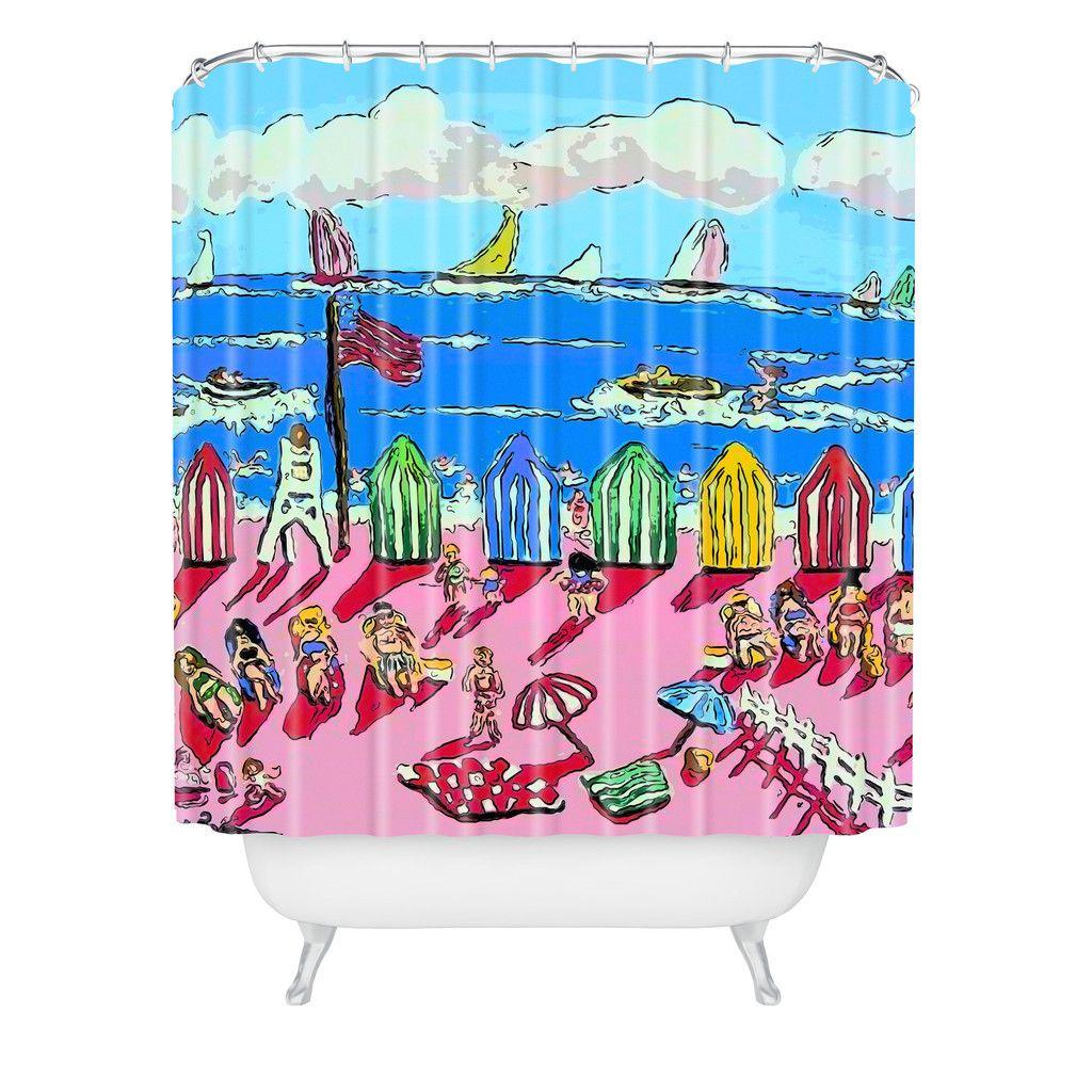 Renie Britenbucher Weekend At The Beach Shower Curtain | DENY Designs Home Accessories