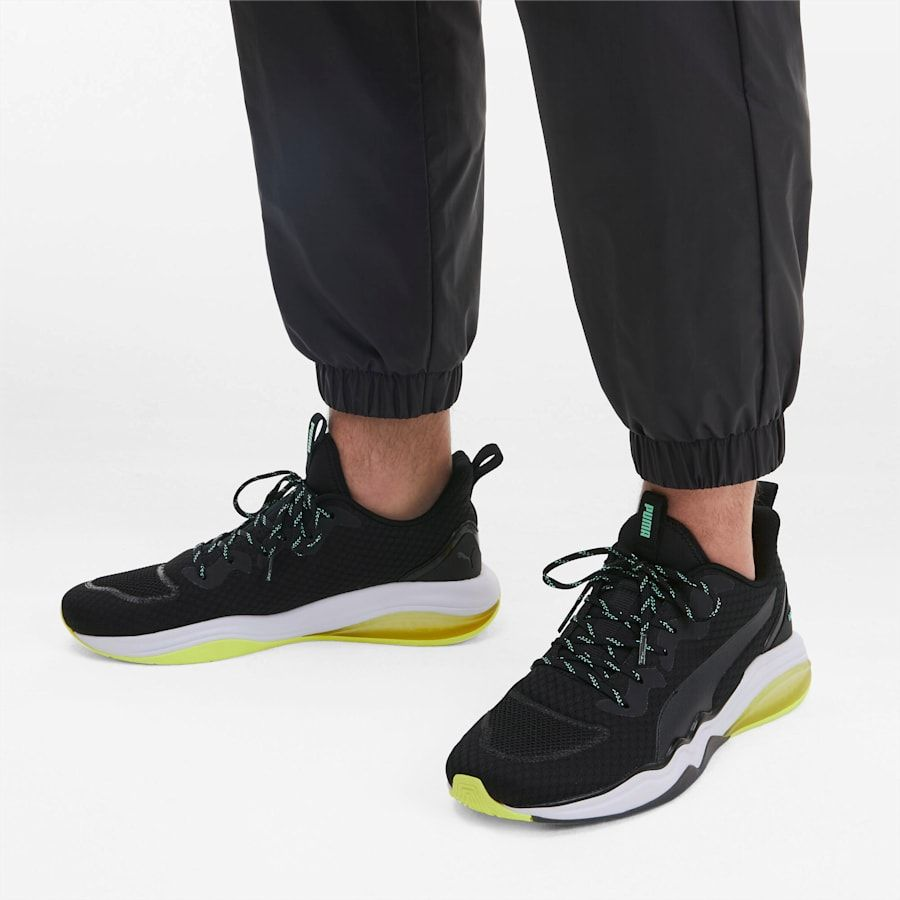 PUMA Lqdcell Tension Mens Training Shoes in BlackYellow Alert size 105