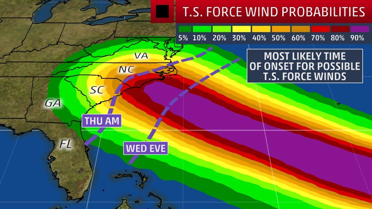 Hurricane Storm Surge Watch Issued As Florence Targets Carolinas With Flooding Destructive Winds The Weather Channel Storm Surge Weather