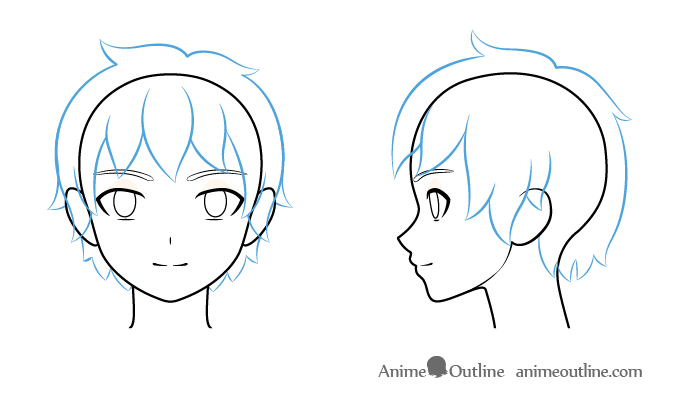How To Draw Anime Boy Hair Step By Step For Beginners Anime Boy Hair How To Draw In 2020 Anime Boy Hair Anime Boy Anime Guys Shirtless