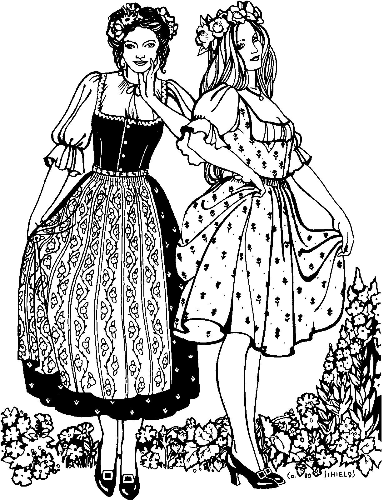 123 Austrian Dirndl Dirndl Vintage Sewing Patterns Dirndl Dress