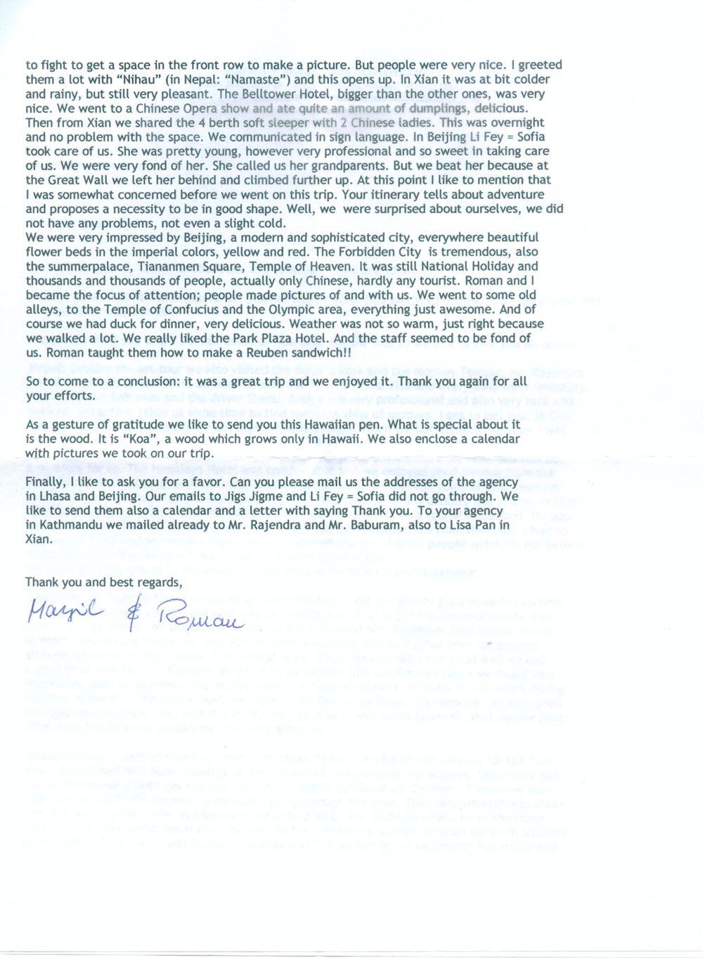 the longest thank you letter tibet travel blog appreciation