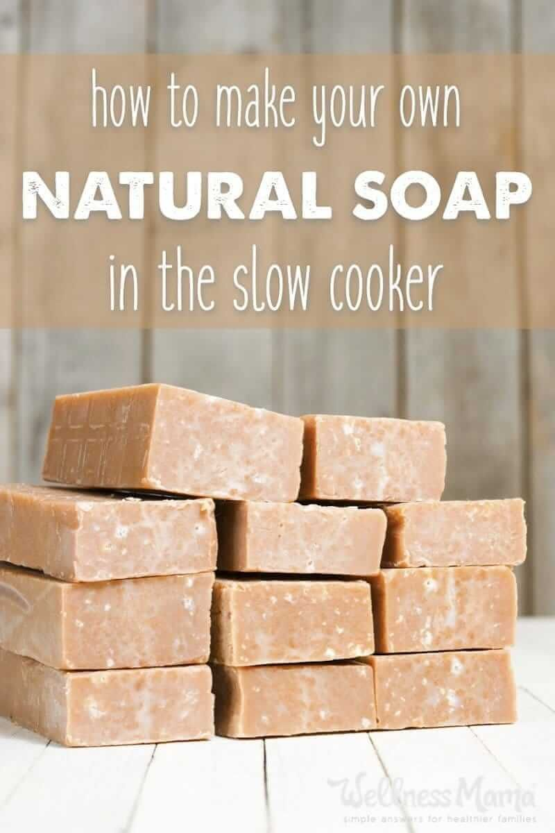 This basic soap recipe uses coconut oil and olive oil and
