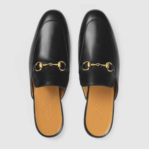 d841615289700 Leather Horsebit slipper - Gucci Men s Moccasins   Loafers 426219BLM001000