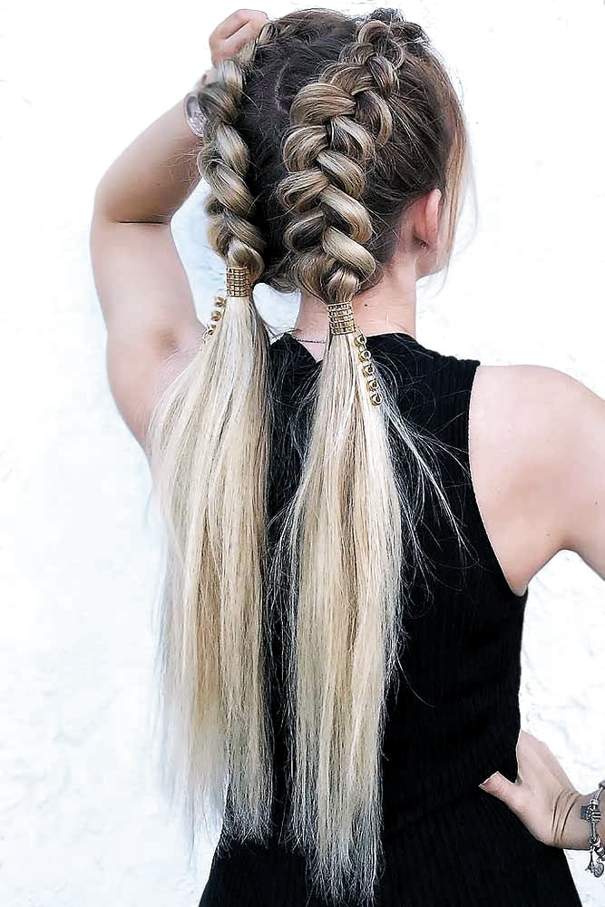 Charming Double Braided Updo For Thin Hair Updo Longhair In 2020 Easy Updos For Long Hair Thin Hair Updo Long Hair Styles