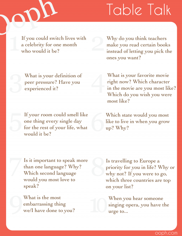 Funny Table Topics Questions : funny, table, topics, questions, Humorous, Table, Topics, Questions
