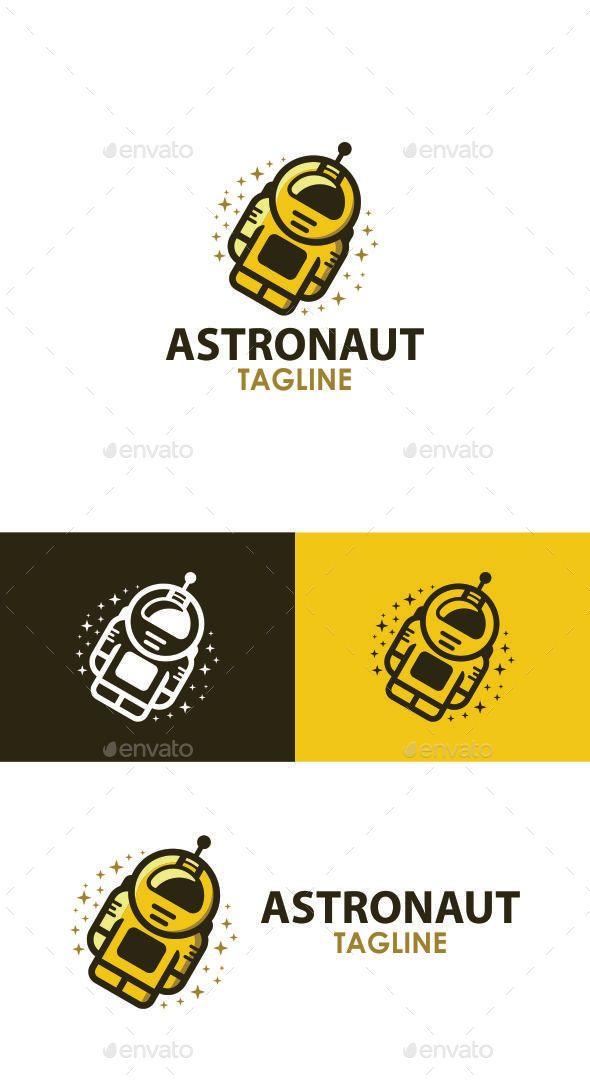 Astronaut Logo Template | Logo templates, Astronauts and Template