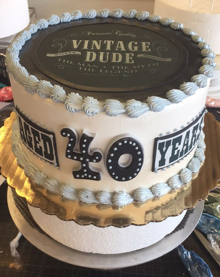 Vintage Inspired 40th Birthday Cake Cake 119