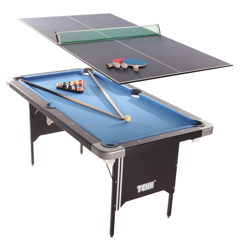 Tekscore Folding Leg Pool Table With Table Tennis Top Liberty Games