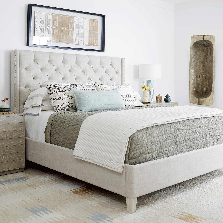Bedroom Furniture Yard Sale: Zephyr Panache Fabric Upholstered Bed In Quartz