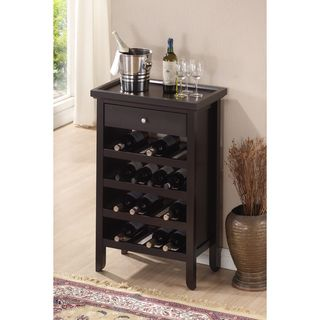 Etonnant Atlanta Dark Brown Wood Modern Wine Cabinet   Overstock Shopping   Great  Deals On Baxton Studio Wine Racks