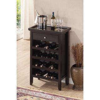 Atlanta Dark Brown Wood Modern Wine Cabinet Ping Great Deals On Baxton Studio Racks
