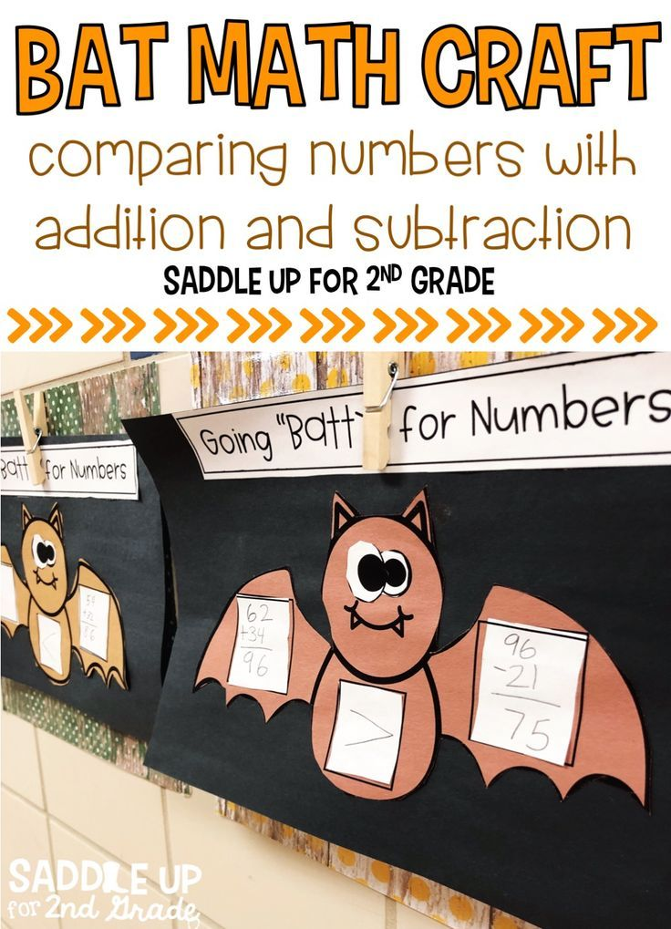Bat Math Craft | Grades 1-2: Ideas & Resources | Pinterest