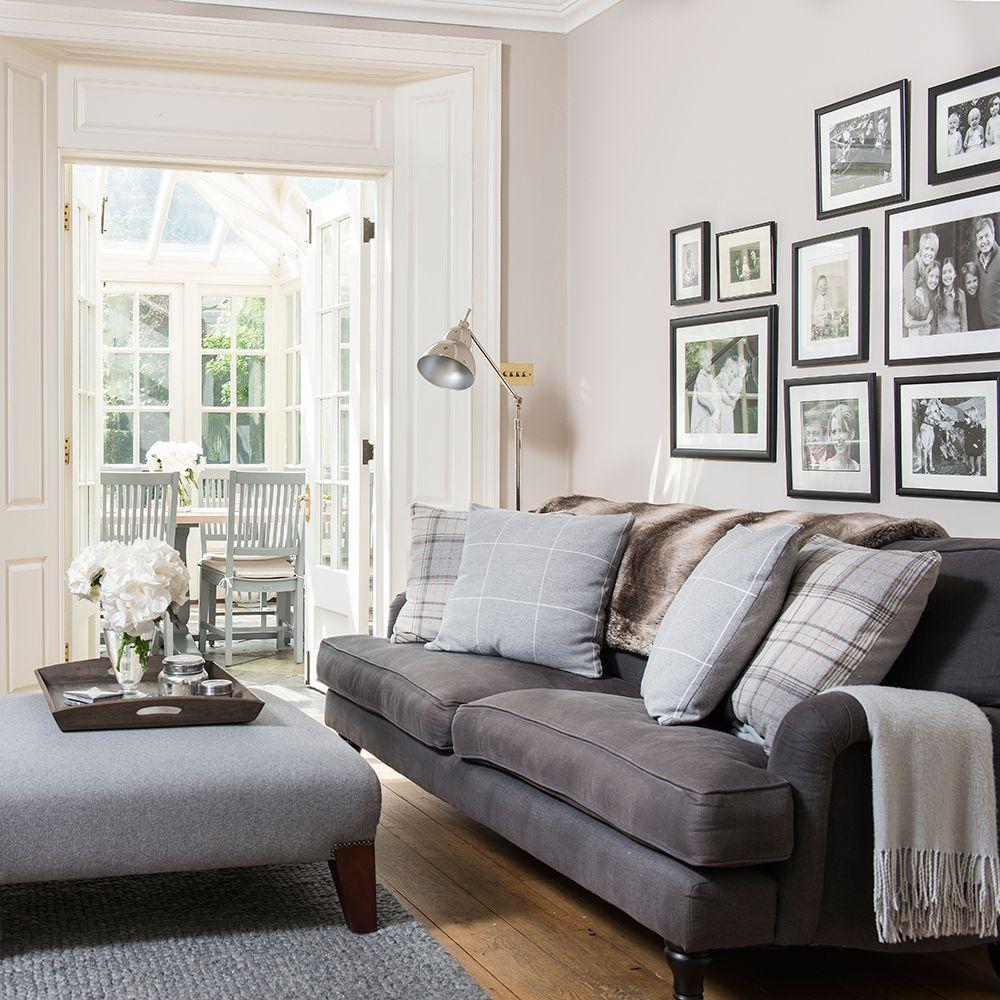 IH Nov 17 p26 Neutral living room with framed prints | living room ...