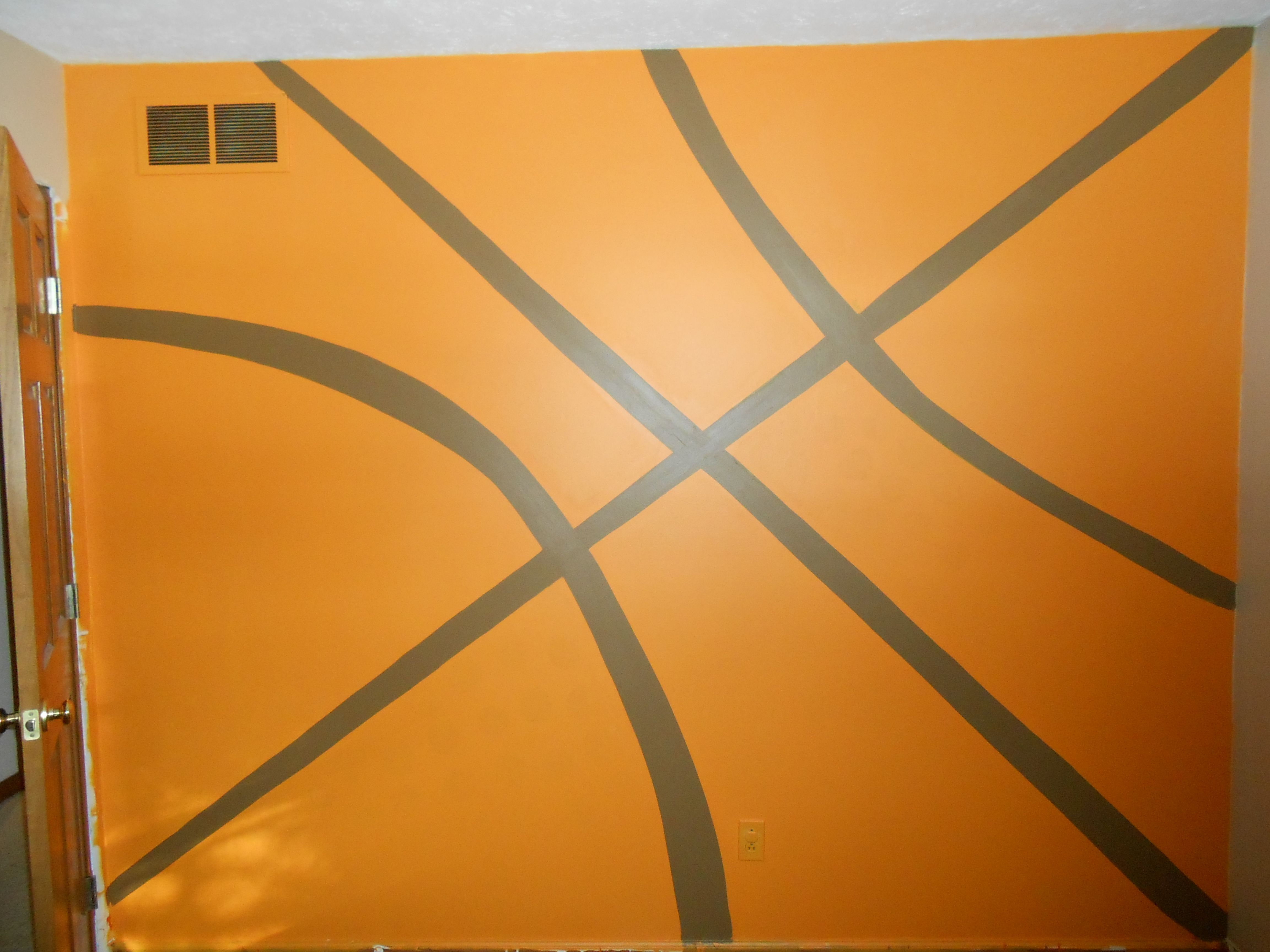 hand painted basketball wall for my son boys rooms