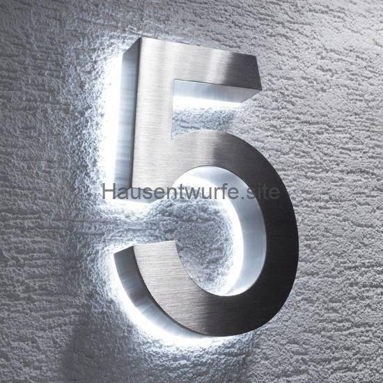 House designs – house number Nirosta LED