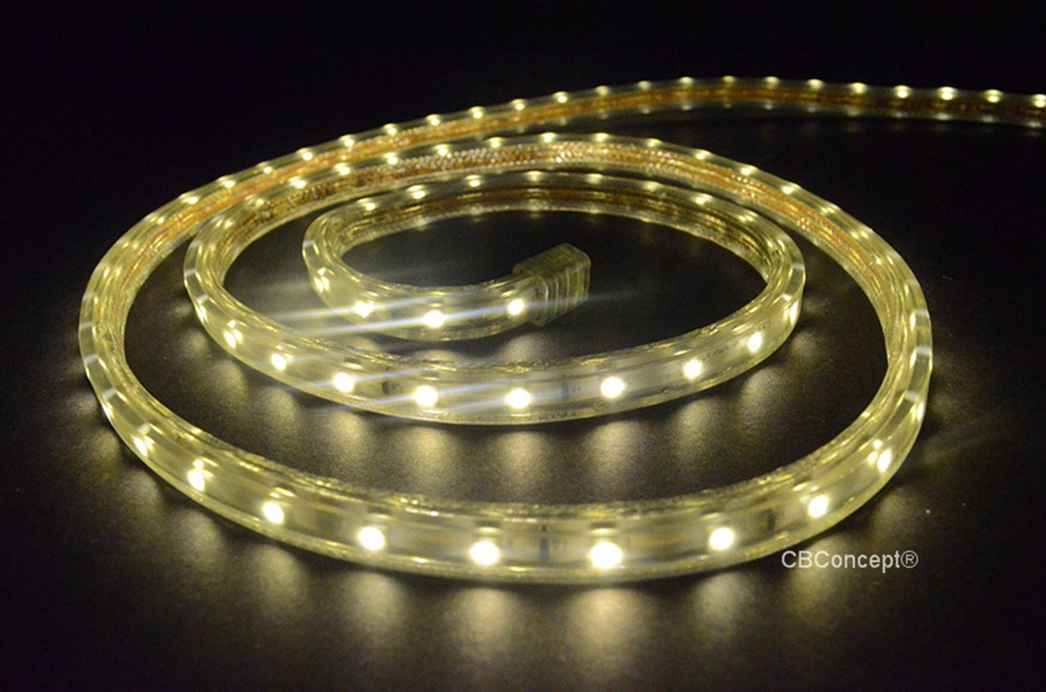 Cbconcept ul listed 33 feet 360 lumen 3000k warm white dimmable cbconcept ul listed 33 feet 360 lumen 3000k warm white dimmable 110 120v ac flexible flat led strip rope light 60 units 3528 smd leds aloadofball Image collections