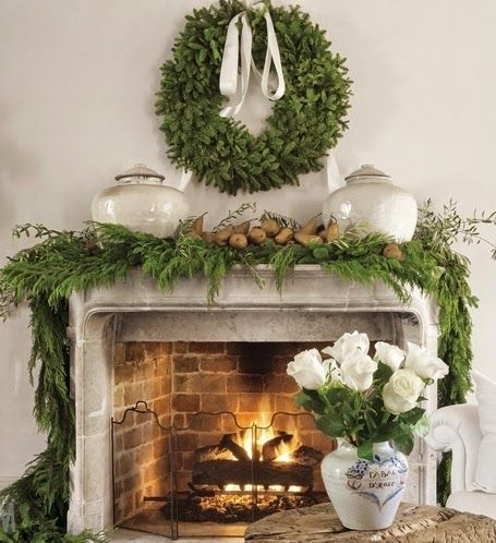 Beautiful French Country Bastide Château Mireille Christmas - christmas decorations for mantels