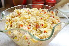 While this is not the most flattering photo, I have to share this recipe.   I made this orzo salad for the birthday party last week and ...