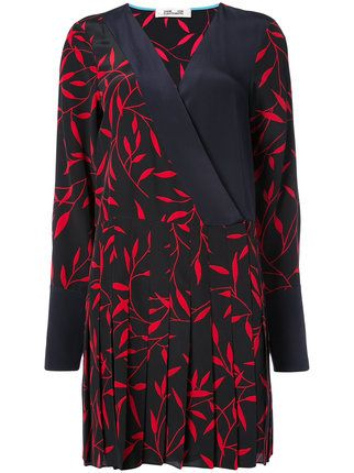Dvf Diane Von Furstenberg plunge neck asymmetric dress Free Shipping In China Clearance Enjoy ZL0Eq
