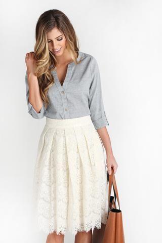 Emily Lace Midi Skirt   We, The o'jays and Feminine